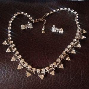 RMN. Costume Rhinestone Jewelry Set